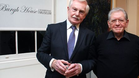 Sir Derek Jacobi and Matthew Lewin at Burgh House, where Sir Derek was the special guest in the Life