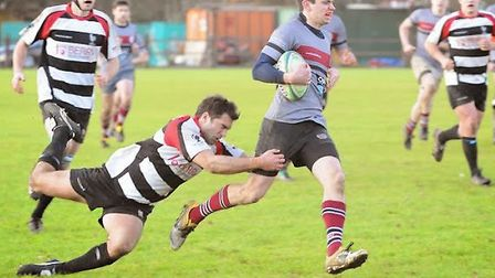 Tom Loughnan (right) scored a hat-trick for UCS Old Boys. Pic: Nick Cook/UCS Old Boys