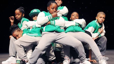 E-Kidz from Hackney performing at the urban talent show Boroughs United at the Hackney Empire on Sun