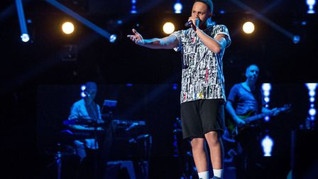 Miles Anthony on The Voice, photo BBC/Wall to Wall