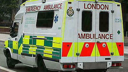 A cyclist, who was in his 20s, was taken to hospital by ambulance following the collision.