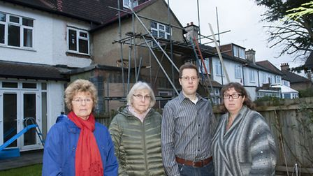 Residents upset over the illegal build in Temple Gardens. From left to right:Sandra Doney, Chris C