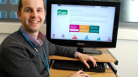 Dr Alastair Bailey hopes the iCope website will help people suffering mental health problems to acce