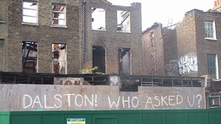 A row of Gerogian terraceson Dalston Lane have been earmarked for demolition. Picture credit: Open D