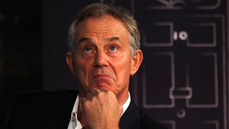 Tony Blair who has played down an attempt by a bar worker to arrest him at a trendy London restauran