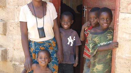 One of the farming families International Development Enterprises (iDE) has helped lift from poverty