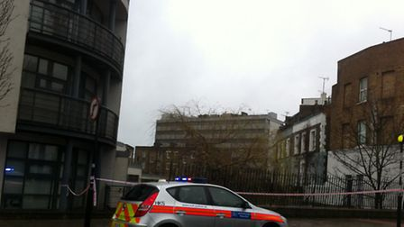 The scene at Royal College Street
