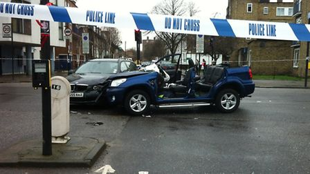 The accident happened at the junction of Southgate Road and Downham Road. Photo Emma Bartholomew