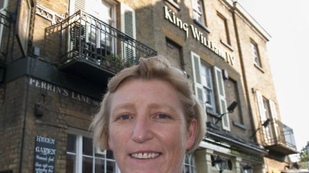 Elaine Loughran, landlady of the King William IV pub in Hampstead. Picture: Nigel Sutton