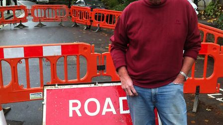 Cllr Chris Knight called for Victorian water mains to be replaced last October, after a water leak l