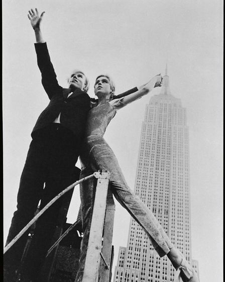 Andy and Edie Sedgwick share the spotlight with the Empire State Building