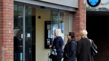 A general view of the Barclays bank in Swiss Cottage, north London, as eight men have been arrested