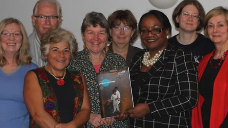 Diane Abbott at the residents' UNICEF meeting