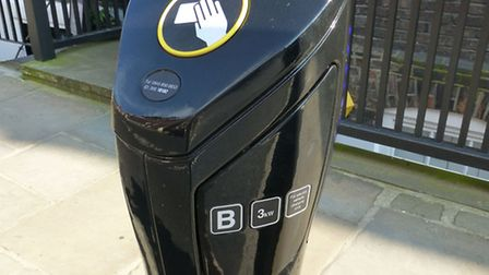 Electric car charger. Picture: Nigel Sutton