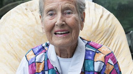 Margery Mason at her 100th birthday in September 2013. Picture: Nigel Sutton
