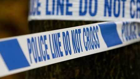 Police were at the scene in Tennyson Road for much of Sunday.