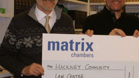 Chairman of Hackney Community Law Centre (HCLC) Cllr Ian Rathbone and HCLC manager Sean Canning