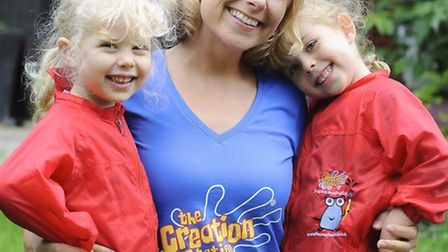 Nina Lozdan, nominee for Franchisee of the Year, with her two daughters Holly, 5, and Sophie, 6
