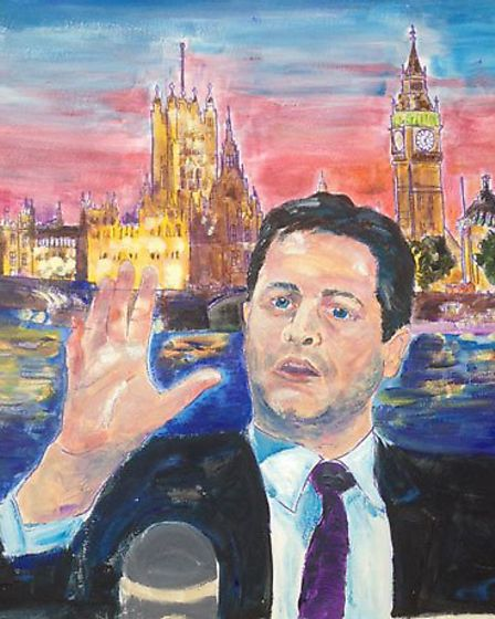 Nick Clegg, as drawn by 12-year-old Andrew Smith of The Hall school