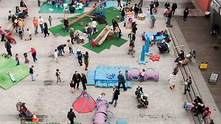 The soft play area in Gillett Square