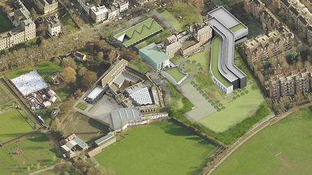 An artist's impression of how the William Ellis and Parliament Hill schools site will look under the
