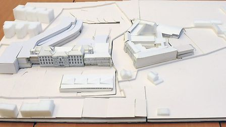 A 3D model of plans to revamp Parliament Hill and William Ellis schools and build a sixth-form centr