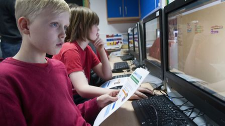 Kids as young as nine are being taught how to code at Christ Church Primary School in Hampstead. Pic
