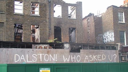 Discuss what actions residents can take over the demolition of a row of Gerogian terraces on Dalston