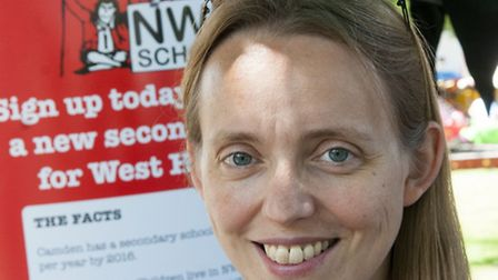 Clare Craig, leader of the NW6 School campaign. Picture: Nigel Sutton
