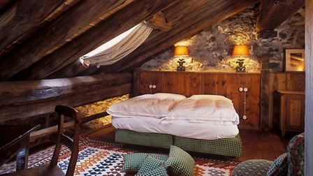 A bedroom at the Mascognaz