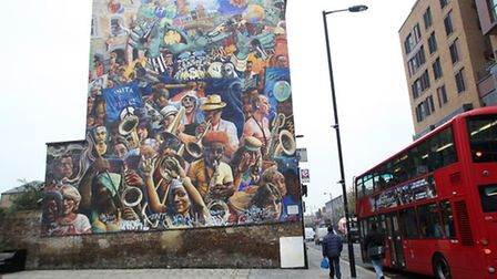 Dalston Peace Mural in Dalston Lane