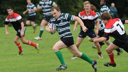 Hendon captain Ger O'Donoghue scored a 75th-minute try to put Hendon out of sight. Pic: Paolo Minoli