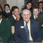 Students from La Sainte Union School learn about the Holocaust at Belsize Square Synagogue Survivor