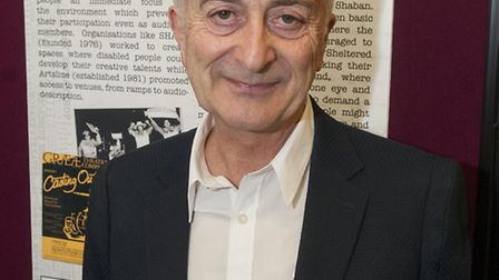 Sir Tony Robinson at the opening of Re-Staging Revolutions. Picture: Nigel Sutton.