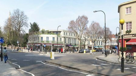 An artist's impression of the Swain's Lane redevelopment, as submitted to Camden Council. Picture: L