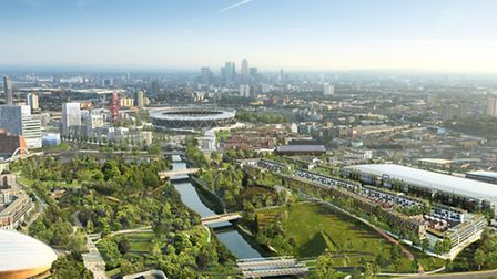 East Wick and Sweetwater neighbourhoods on Queen Elizabeth Olympic Park