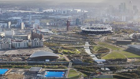 Aerial shot over Queen Elizabeth Park. Picture by Anthony Charlton for LLDC.