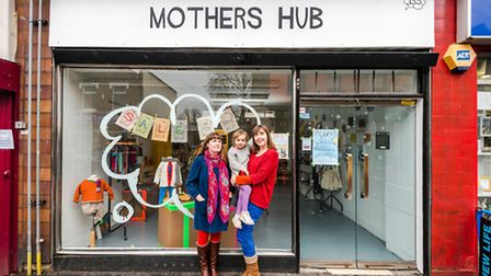 Artist Ruth Ewan with Angela Hicks, proprietor of business Mother's Hub, who she has been collabor
