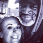 Jenny with Michael on Saturday night before she launched the crowdfunding campaign to get him home t