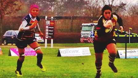 Fran Hall in action for Hampstead ladies