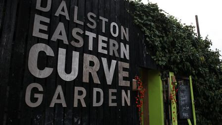 GV of Dalston Eastern Curve Garden, of Graham Road, Dalston.