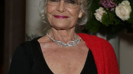 Actress Shirley Eaton attended the Cocktails with Monroe exhibition at The Langham Hotel. Picture: P