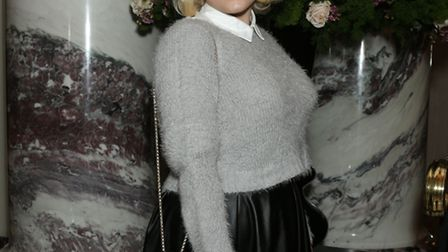 Actress Hayley Hasselhoff attended the Cocktails with Monroe exhibition at The Langham Hotel. Pictur