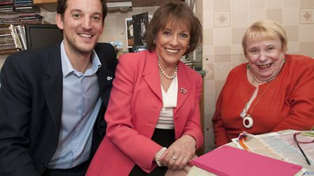 Esther Rantzen, founder of The Silver Line, and George Morris, managing director of Bluebird Care Ca