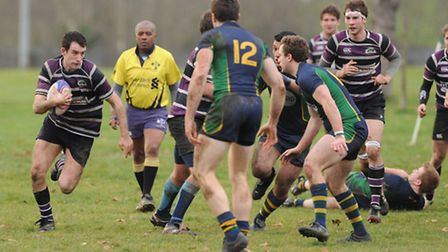 Zach Webb (left) in action for Belsize Park. Pic: Paolo Minoli