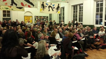 Meeting at Primrose Hill Primary School yesterday evening