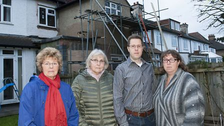 Residents upset over the illegal build in Temple Gardens. From left to right: Sandra Doney, Chris C