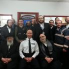 Members of Shomrim Stamford Hill with Hackney Police
