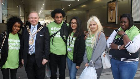 The team from BSix with Speaker Michael Desmond