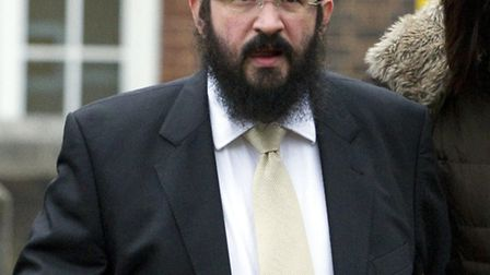 Menachem Levy arriving at Wood Green Crown Court during his trial. Picture: Central News.
